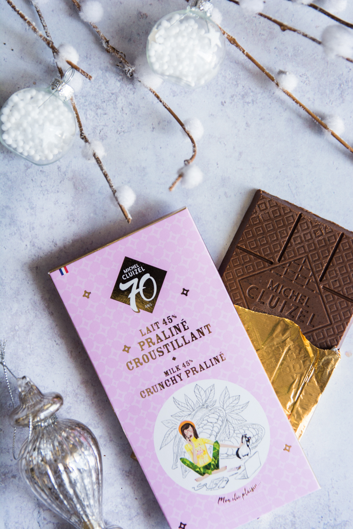 Tablette chocolat au lait 45% praliné - Michel Cluizel