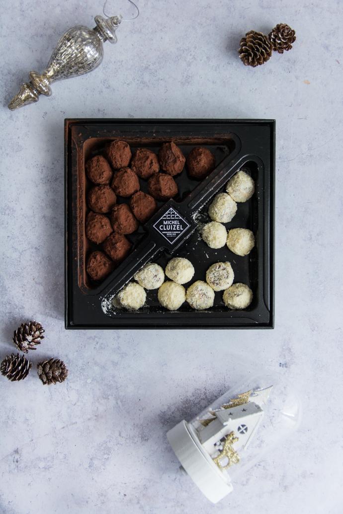 Coffret deux truffes blanches et noires - Michel Cluizel