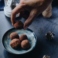 Recette festive - les truffes au cacao et marrons