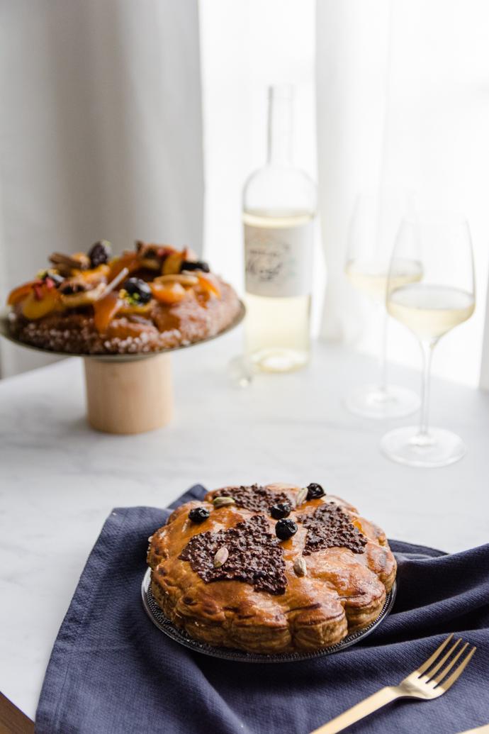 Galette des Rois à la pistache, griottes, cacao avec Nicolas Bernardé