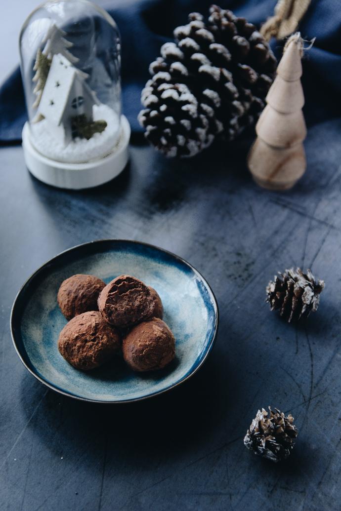 Recette de cadeau gourmand - truffes cacao et marrons