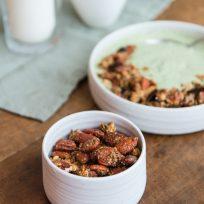 Recette de petit-déjeuner sans gluten et sans lactose - granola au miel et noix
