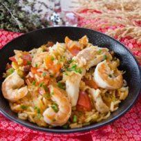 Recette de Jambalaya au poulet et crevettes