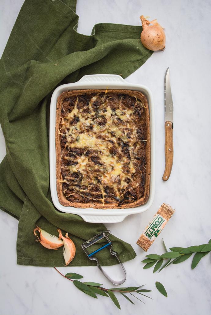 Recette facile de tarte à l'oignon et au Comté du Jura