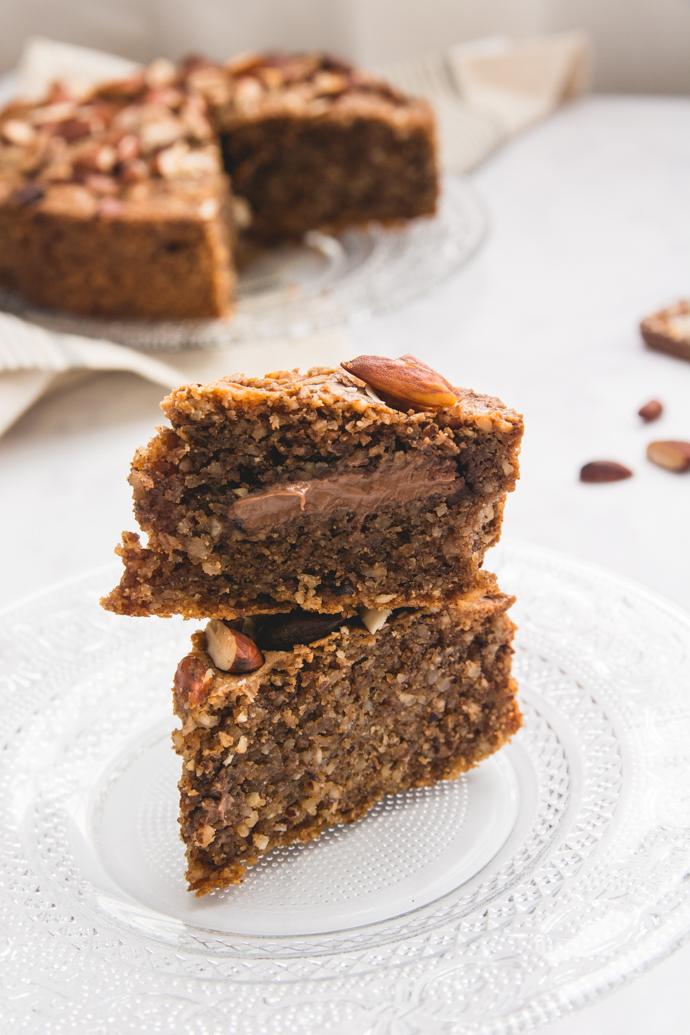 Brownie moelleux, insert coeur chocolat caramel et noisettes Favols