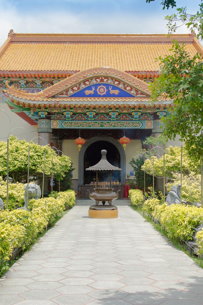 Cour intérieure, Kek Lok Si Temple, Penang, Malaisie