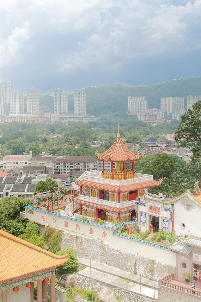 Kek Lok Si Temple, Penang, Malaisie - vue d'en haut