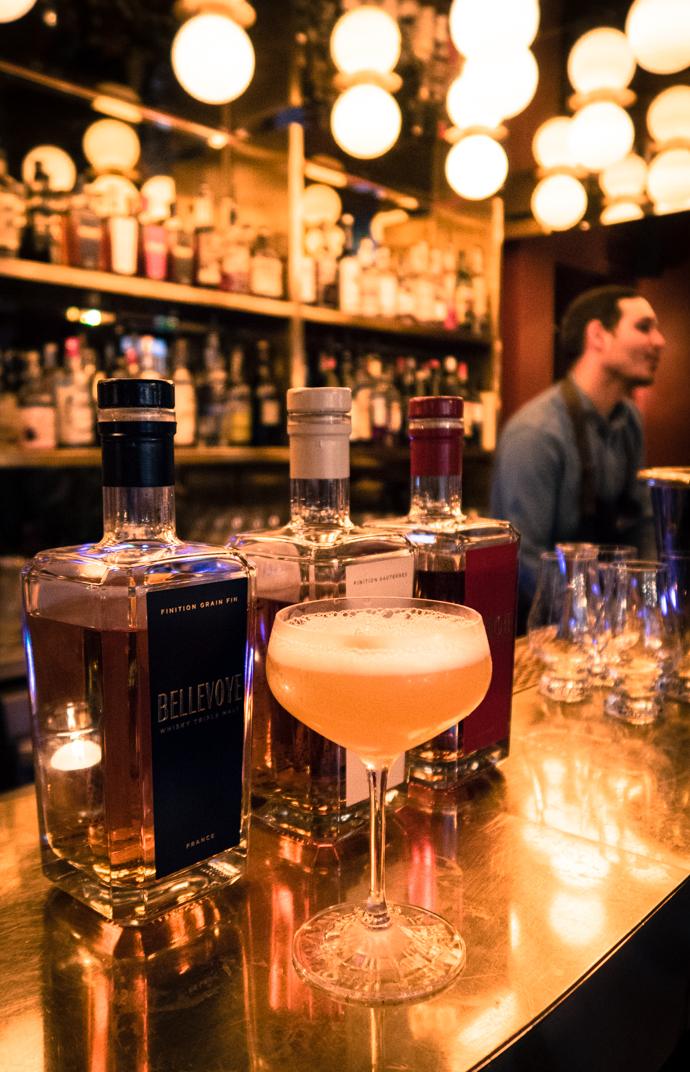 Bellevoye whisky blanc - les arômes de pamplemousse de ce cocktail et le miel au poivre adoucisse les épices du whisky