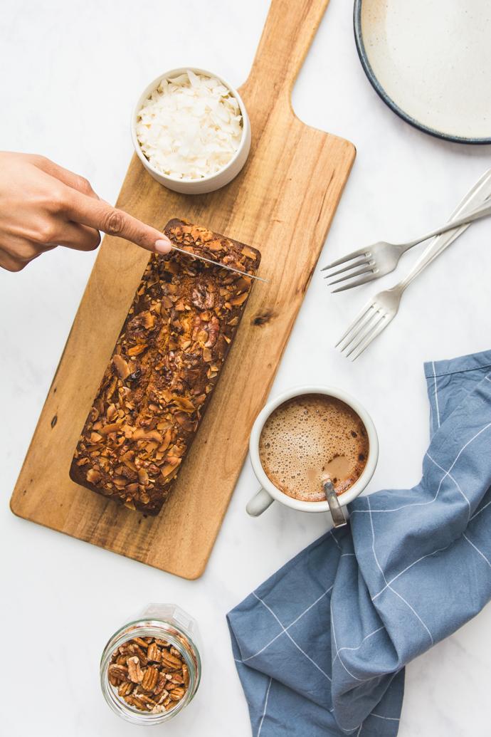 Cake facile au chocolat Dulcey, noix et coco
