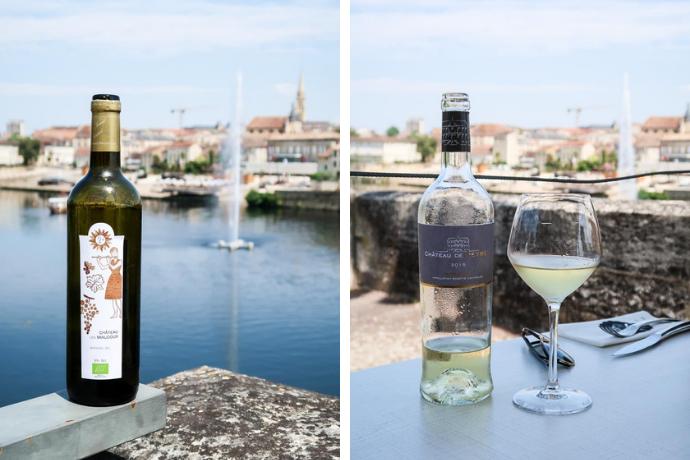 Sélection de vins blancs au Restaurant le Bistro d'en face - Bergerac