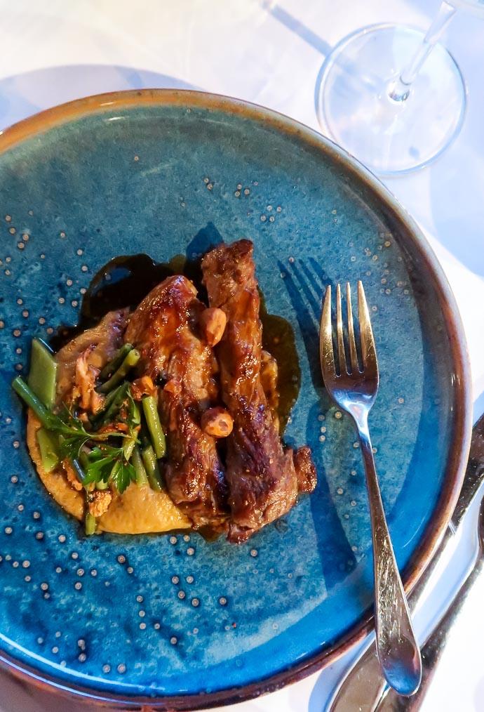 Agneau et purée de patates douces - Restaurant l'Atelier