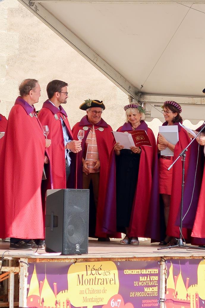 Intronisation des nouveaux membres de la Confrérie de Montravel