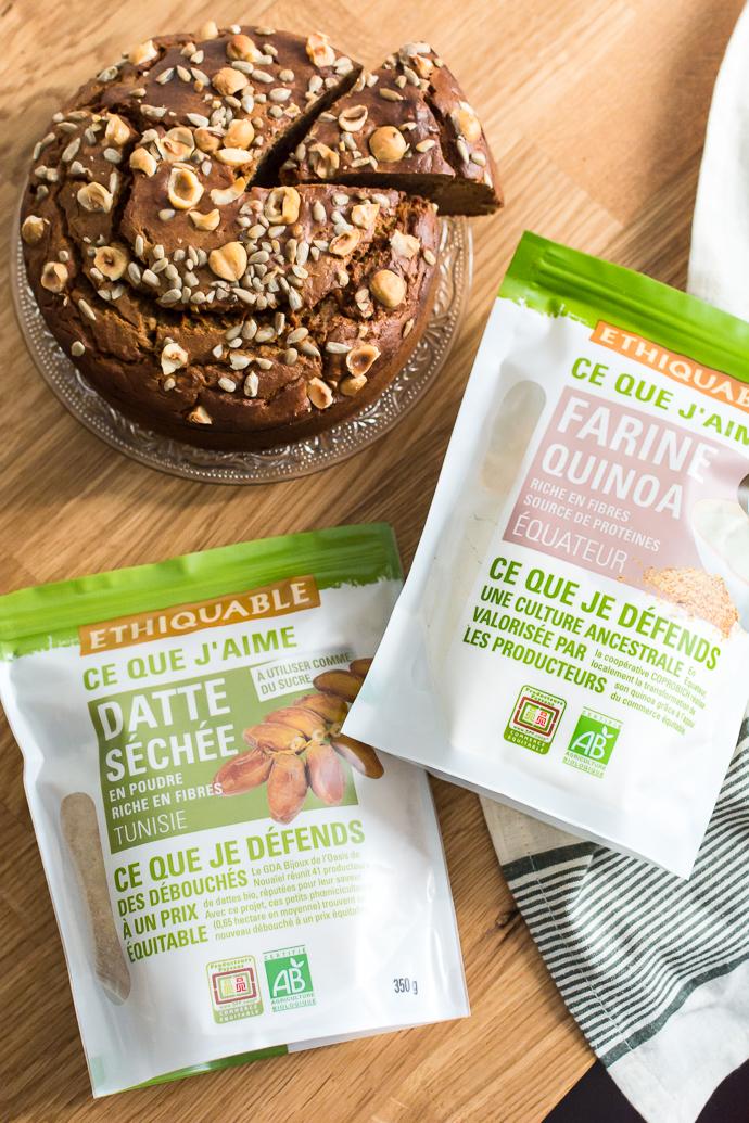 Farine de quinoa et sucre de dattes pour un carrot cake délicieux et sans matières raffinées