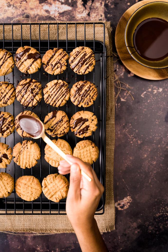 Nappage des biscuits au beurre de cacahuètes - IG bas
