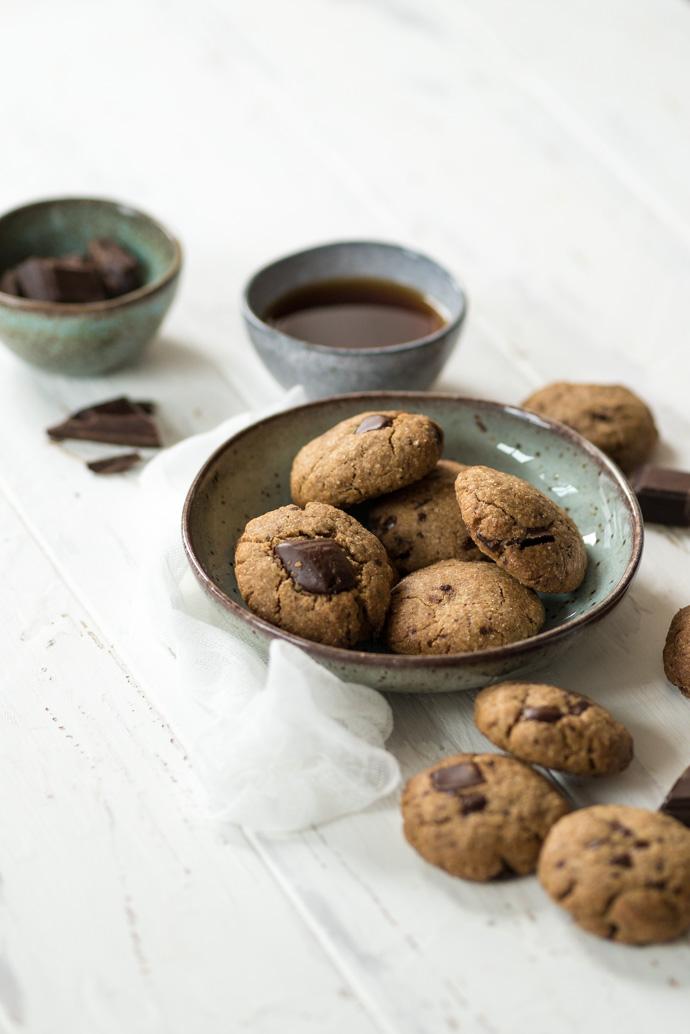 Recette de cookies au chocolat et noisette - sans lactose, sans sucres ni farines raffinées