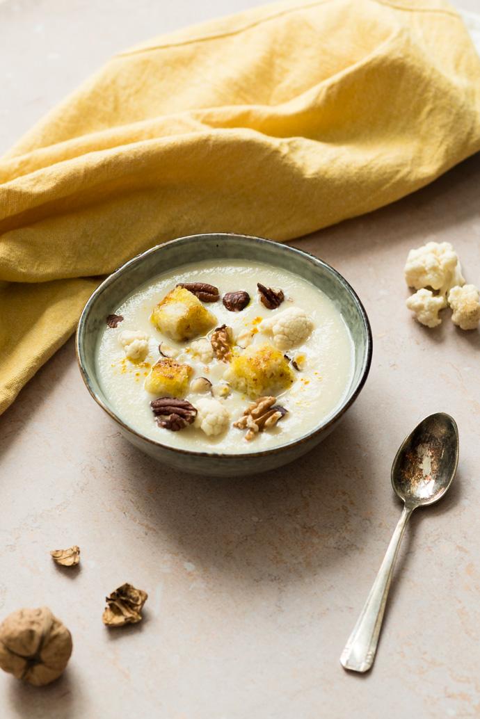 Recette de soupe de chou-fleur et lait de chanvre