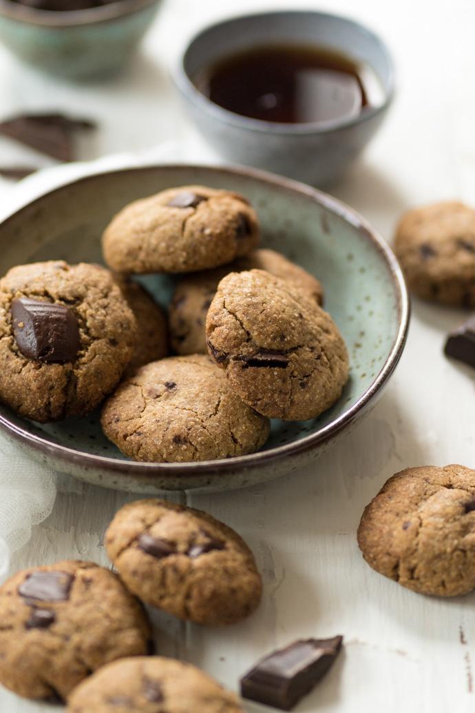 Recette de cookies au chocolat et nois ette - sans beurre