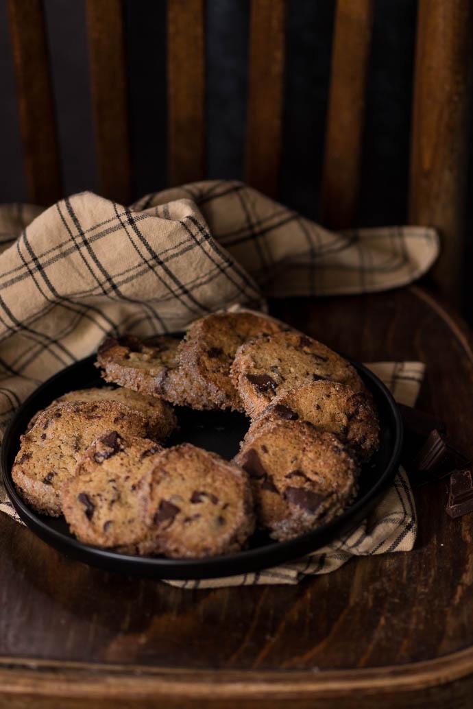 Recette facile de cookies à la vergeoise et au chocolat noir - recette sans lactose