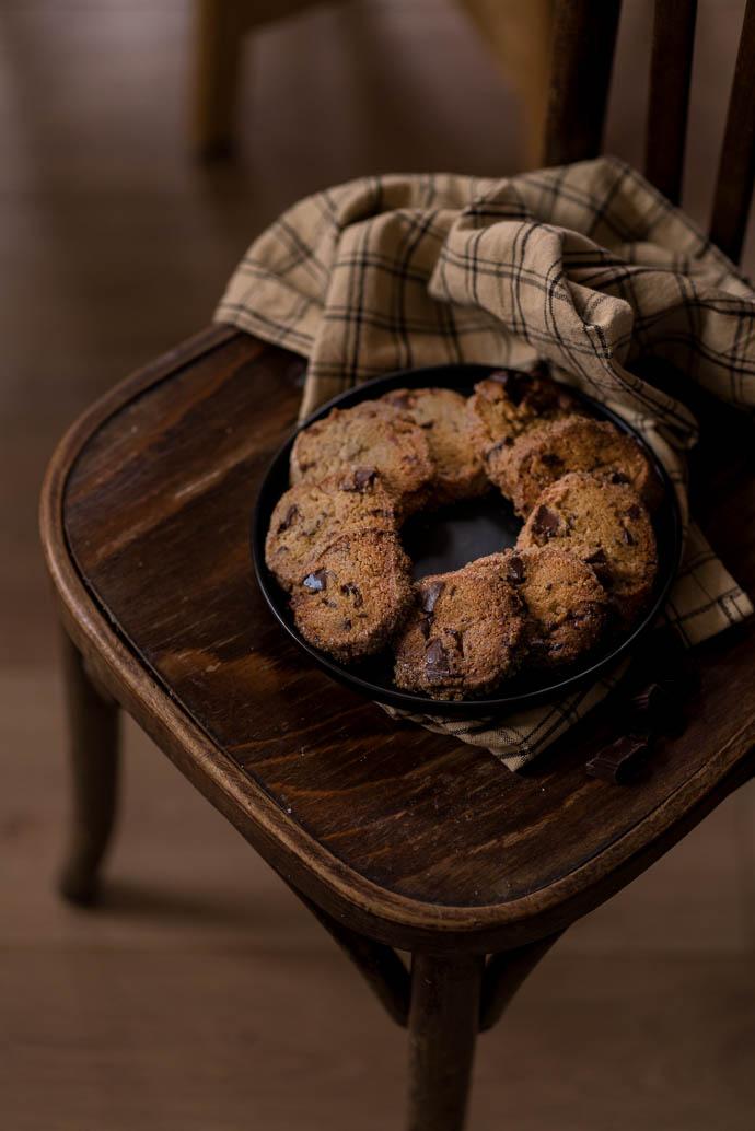 Recette facile de cookies à la vergeoise et au chocolat noir - recette sans beurre