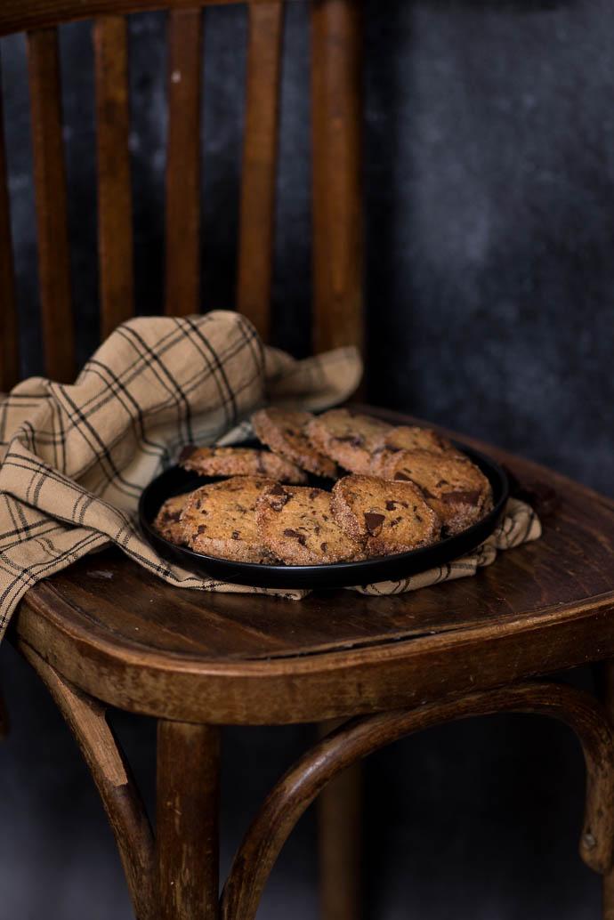 Recette de cookies à la vergeoise et au chocolat noir - recette sans lactose