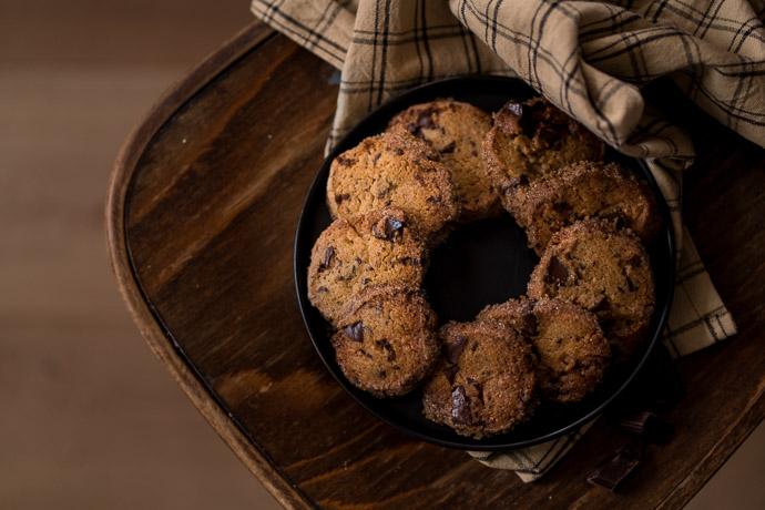 Recette gourmande de cookies à la vergeoise et au chocolat noir - recette sans lactose