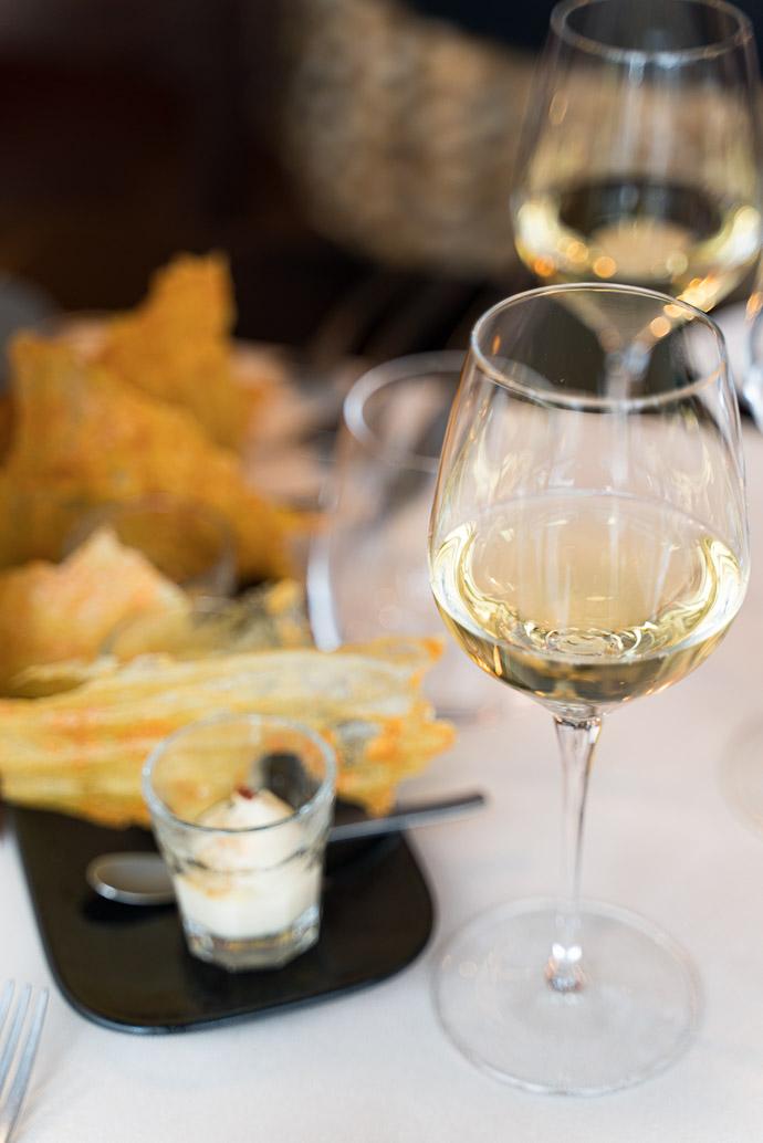 Vin blanc floral du Jura