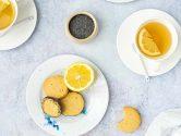 Shortbread végans au citron & graines de pavot - recette sans lactose