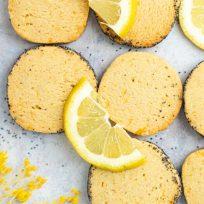 Recette de sablés végans au citron & graines de pavot - recette sans lactose