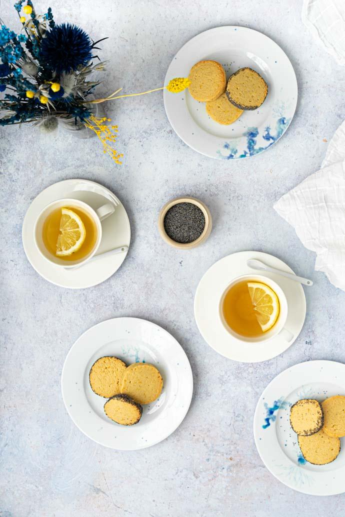 Recette de sablés végans au citron & graines de pavot - recette été