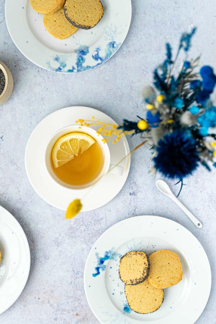 Recette de sablés végans au citron & graines de pavot - recette végétalienne