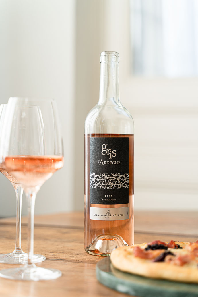 Vin Gris d'Ardèche par les Vignerons Ardechois