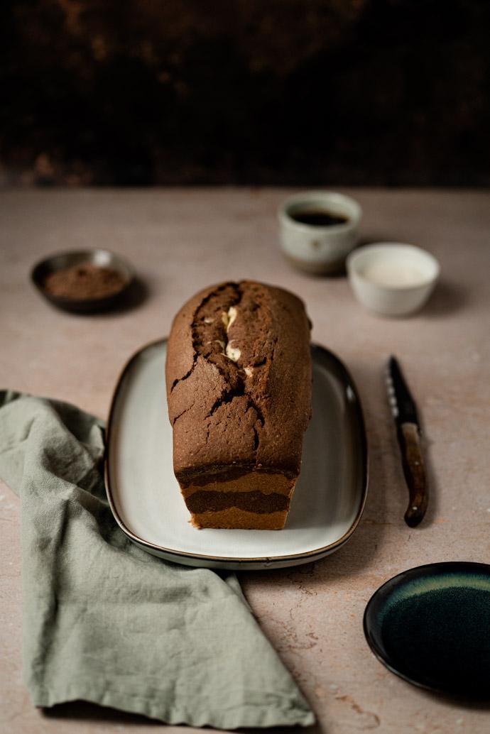 Cake marbré au chocolat et sans beurre - recette sans lactose