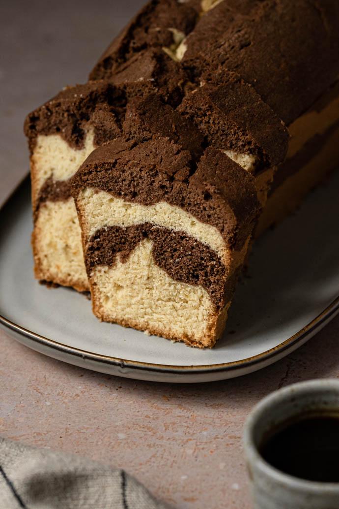 Recette du cake marbré comme un Savane - sans lactose, sans beurre, sans lait animal