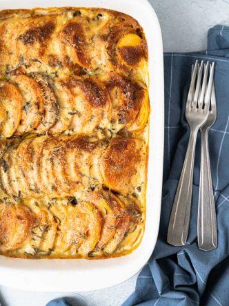 Gratin de patates douces au beurre de thym - recette d'accompagnement