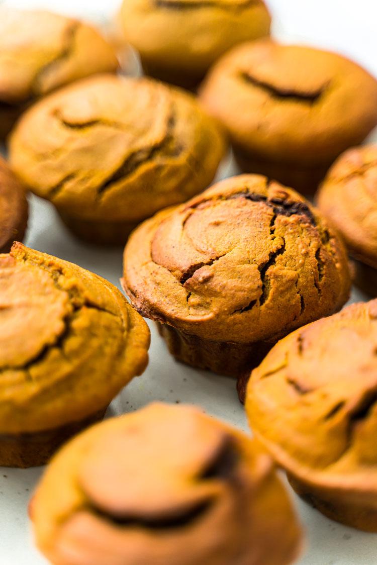 Recette sans lactose - Muffins à la courge et au Nocciolata, Nutella