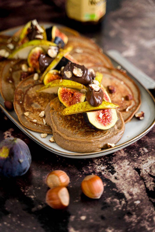 Pancakes sans gluten, sans lactose à la farine de châtaignes et quinoa