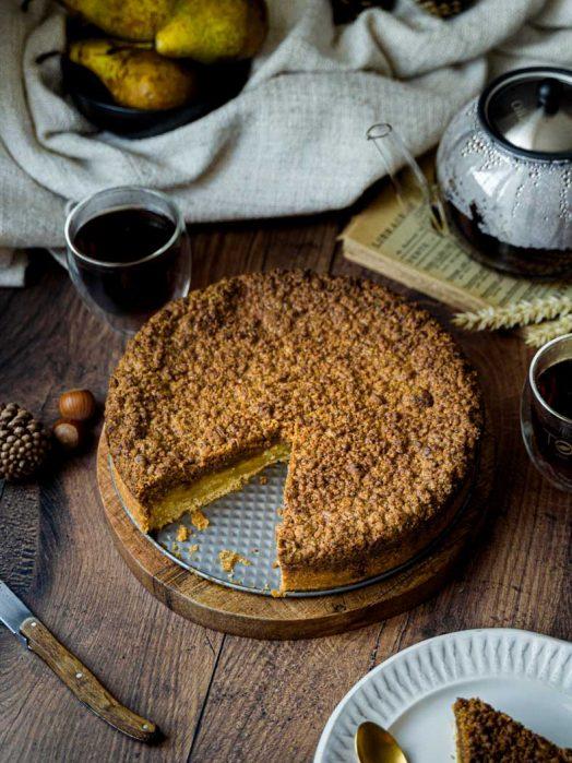 Recette du Coffee Cake à la poire et à la noisette - sans lactose