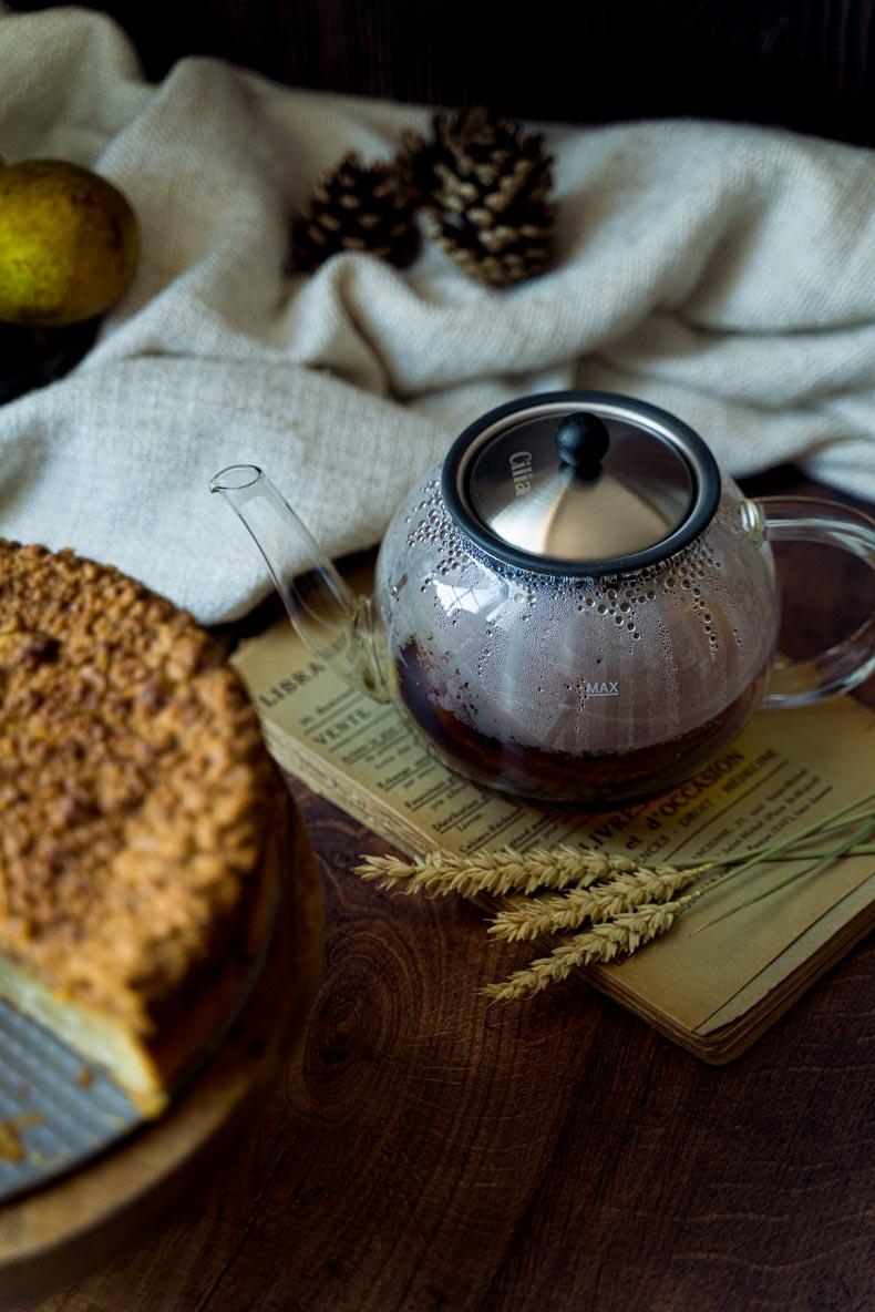 Un Coffee Cake à la poire pour accompagner son thé fumant