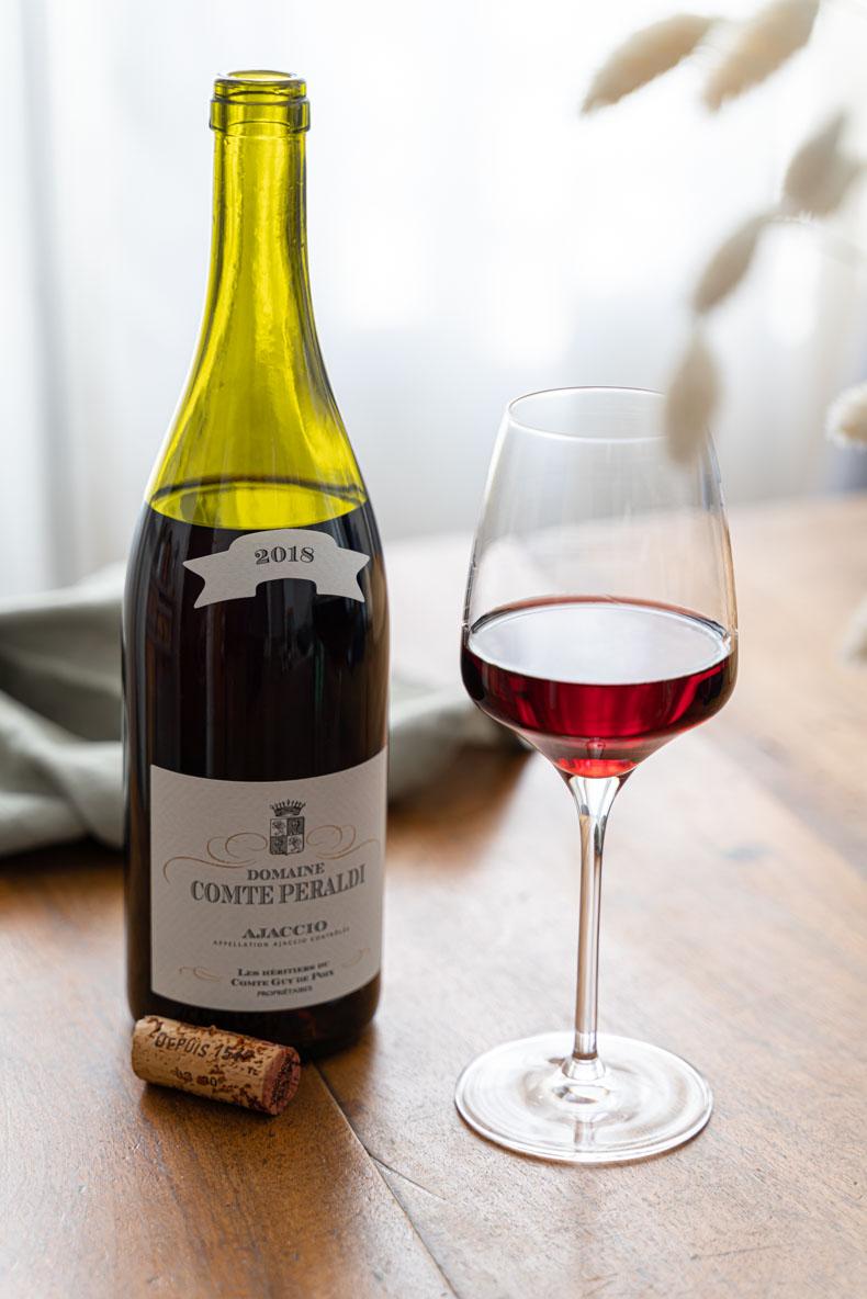 Vin rouge Corse, Domaine Comte Peraldi 2018, appellation Ajaccio