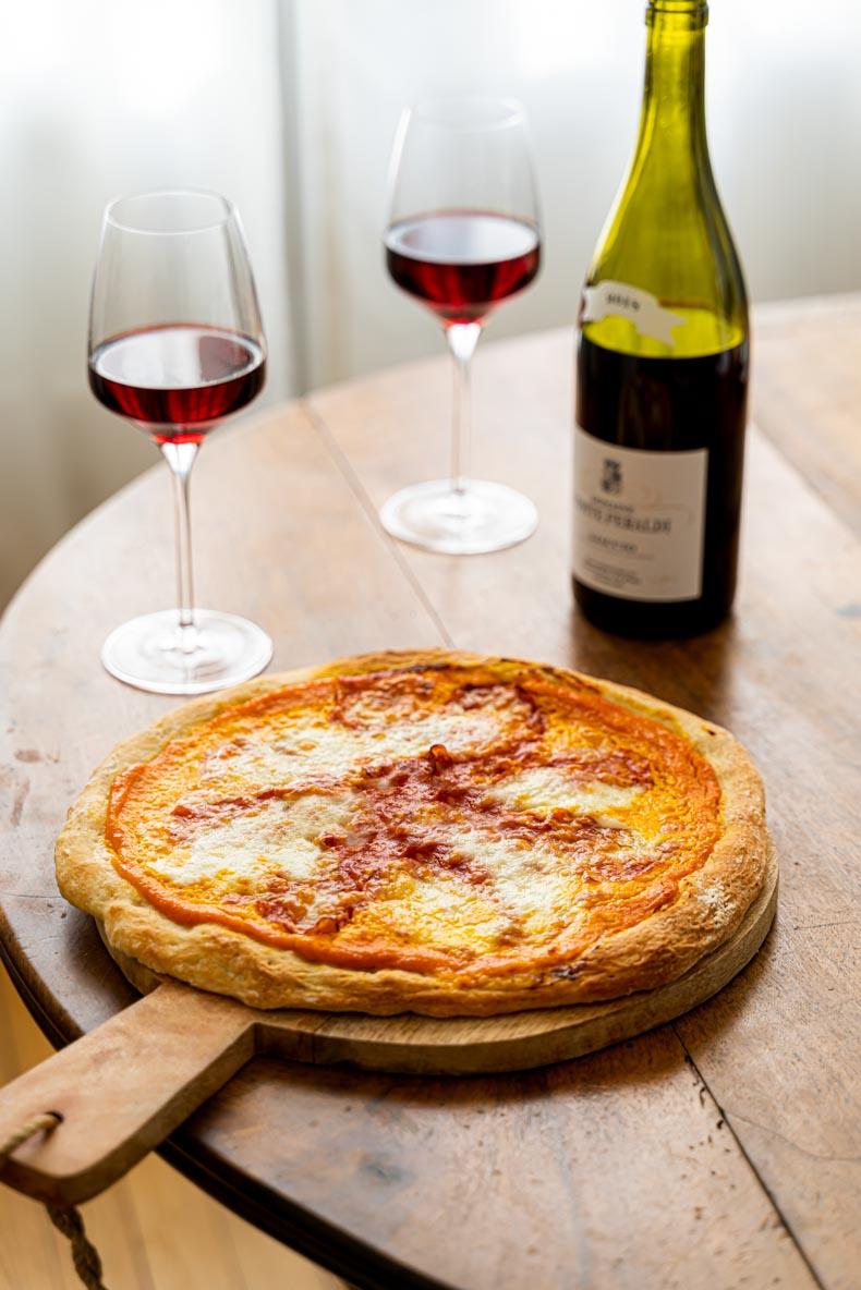 Recette de pizza à la courge butternut et  charcuterie italienne