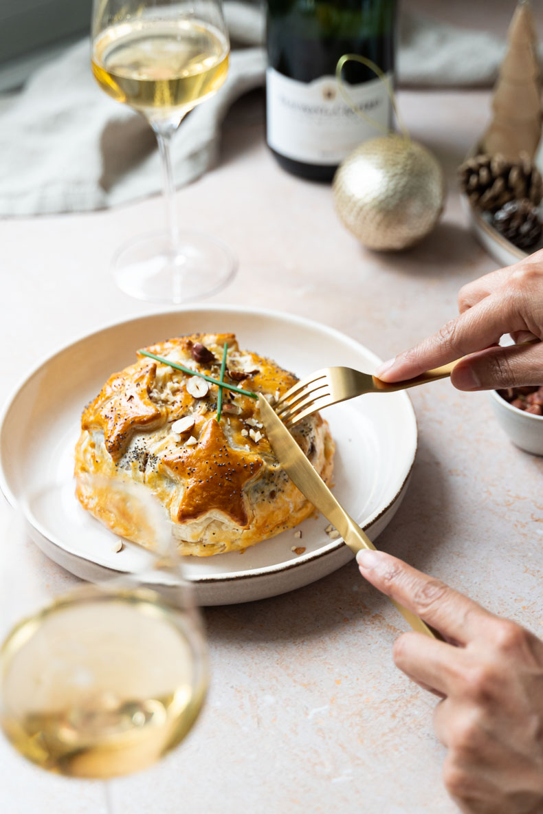 Faire son camembert feuilleté au chutney de coings maison - recette de Noël