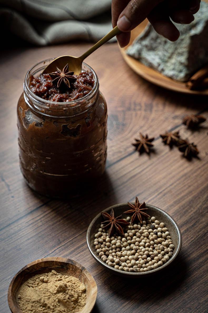 Chutney aux coings & épices - recette sans lactose ni gluten
