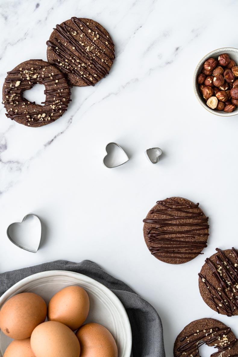 Recette de sablés double chocolat & éclats de noisette