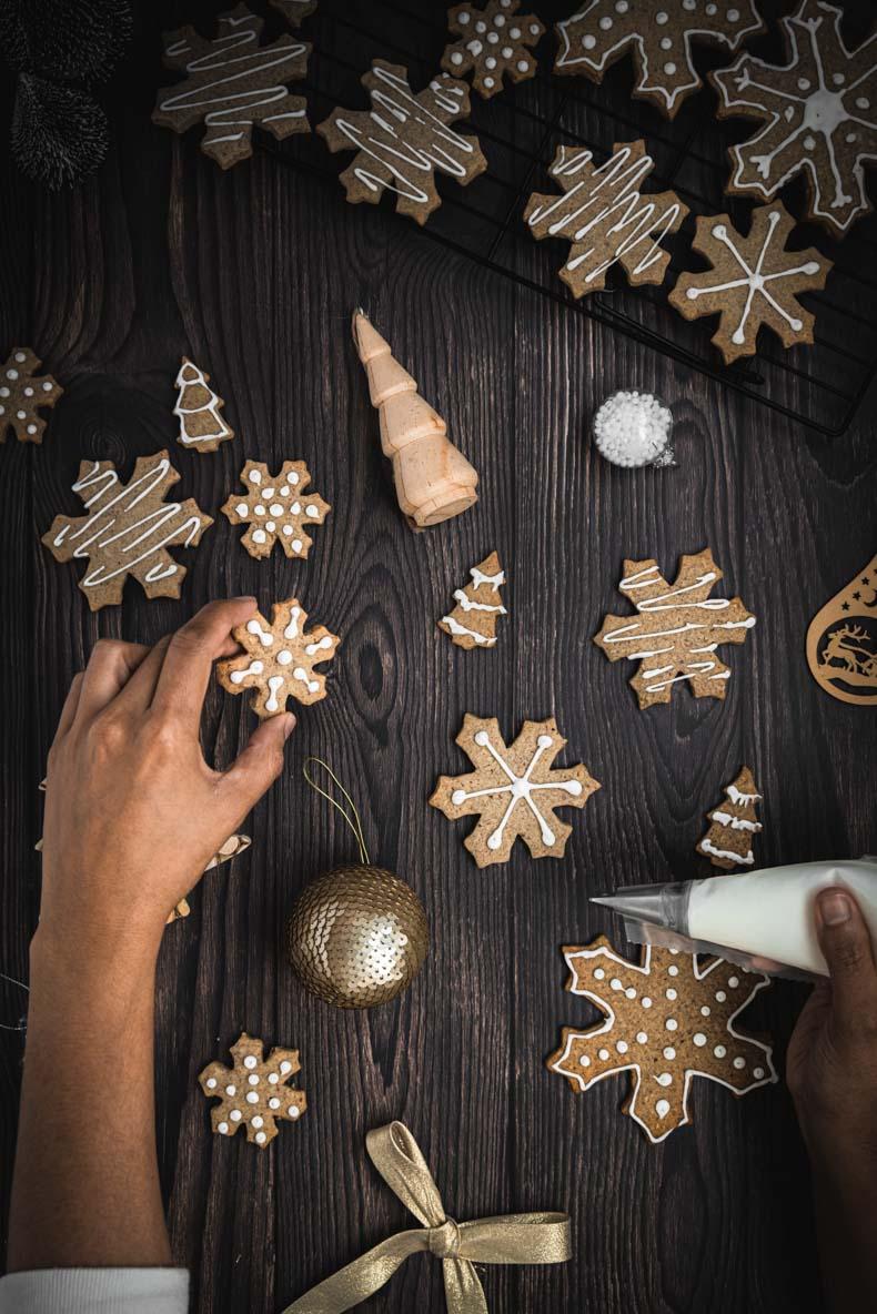 Sablés de Noël à la noisette et sarrasin - sans lactose