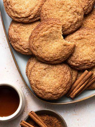 Recette de snickerdoodles au sirop d'érable - sans lactose, sans lait