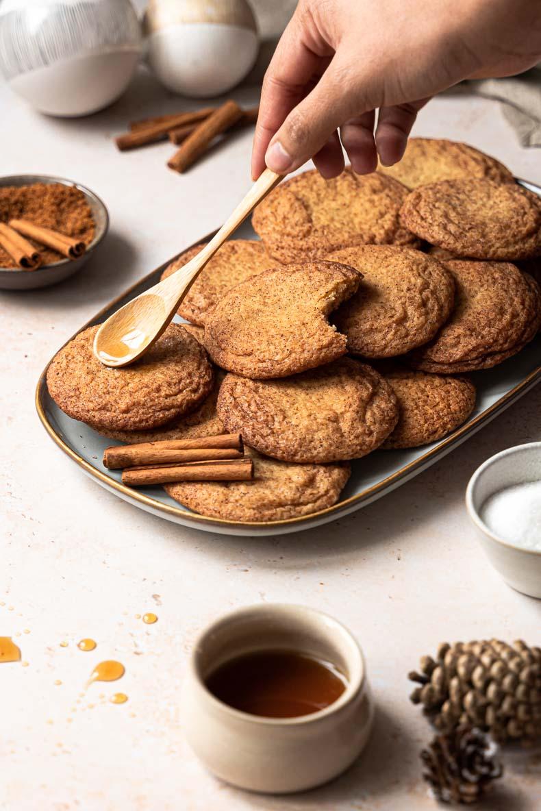 Recette de snickerdoodles au sirop d'érable - recette sans lactose