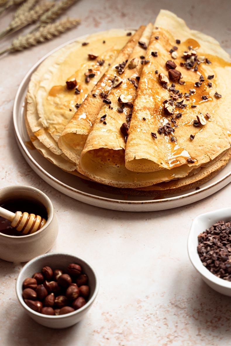 Recette de crêpes sans lactose, au rhum ambré & à la vanille