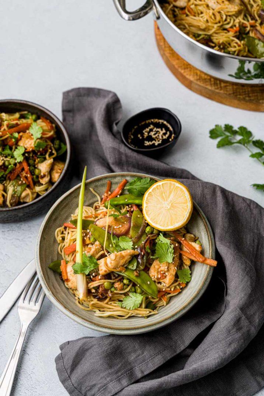 Recette facile de wok asiatique au poulet et ses petits légumes