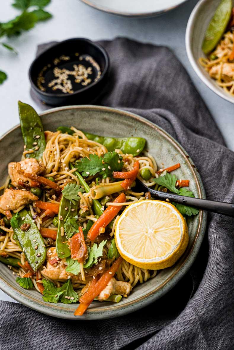 Wok de poulet aux légumes - recette sans lactose