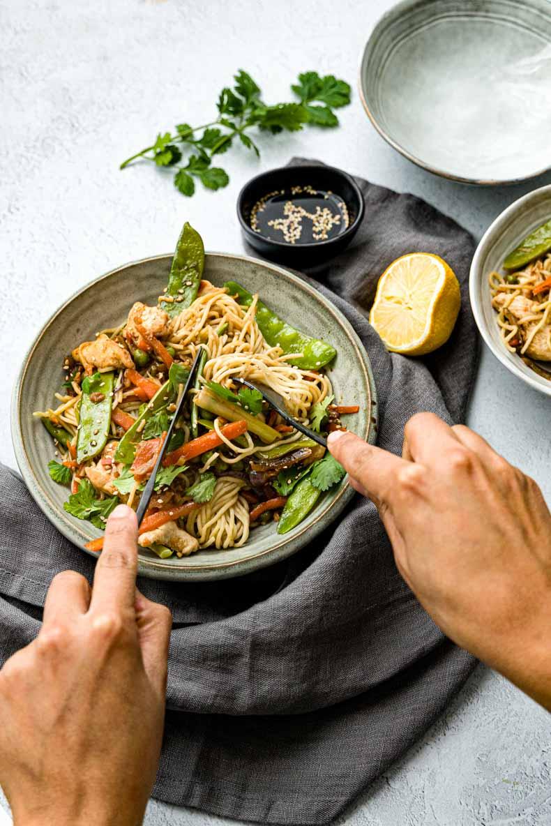 Recette de wok au poulet inratable